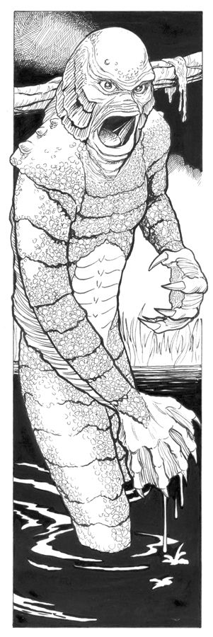 Creature from the Black Lagoon by dr-robot on deviantART