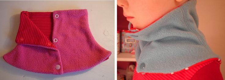 Halswärmer Halssocke mit Druckknöpfen für Kinder