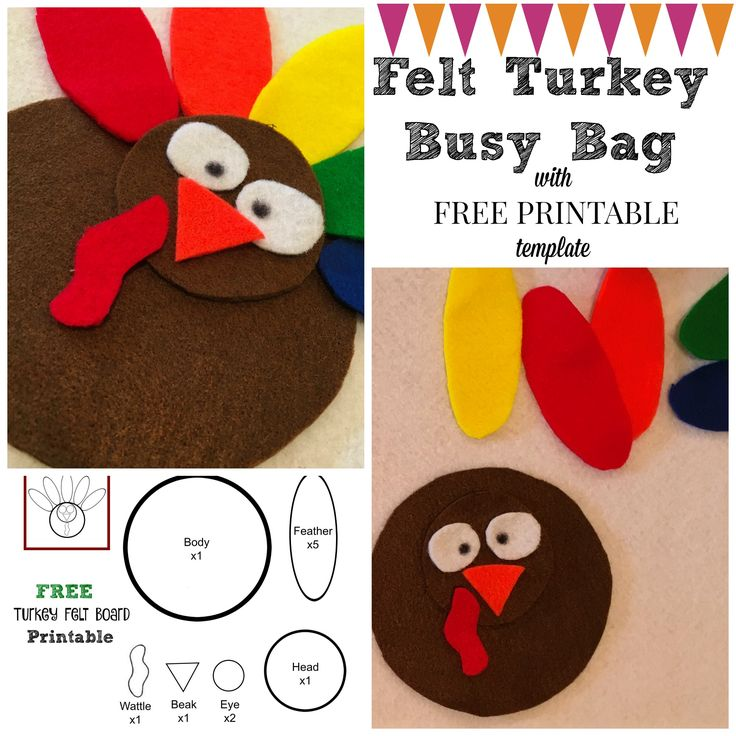 Turkey Felt Board Busy Bag: FREE PRINTABLE!!                                                                                                                                                                                 More