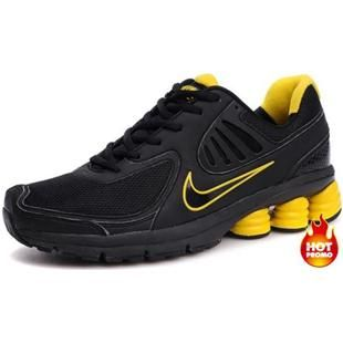 ... sale  www.asneakers4u.com Mens Nike Shox R6 Black Yellow R6 Second ... e1ed85844