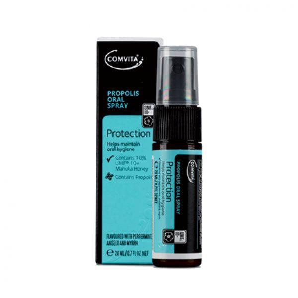 Spray de gat cu propolis si Manuka UMF®10+ 20ml. Calmeaza durerile de gat si ajuta la improspatarea respiratiei. Se poate comanda online de pe www.greenboutique.ro