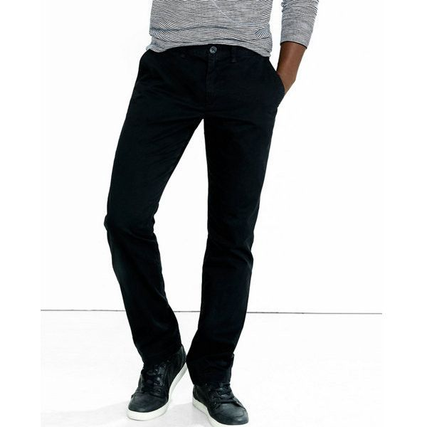 Express Slim Fit Chino Pant ($40) ❤ liked on Polyvore featuring men's fashion, men's clothing, men's pants, men's casual pants, black, mens slim fit pants, mens chino pants, mens chinos pants, mens slim pants and mens slim fit chino pants