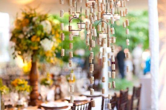 diy wine cork chandelier simply chic events1 550x366 DIY Wine Cork Chandelier