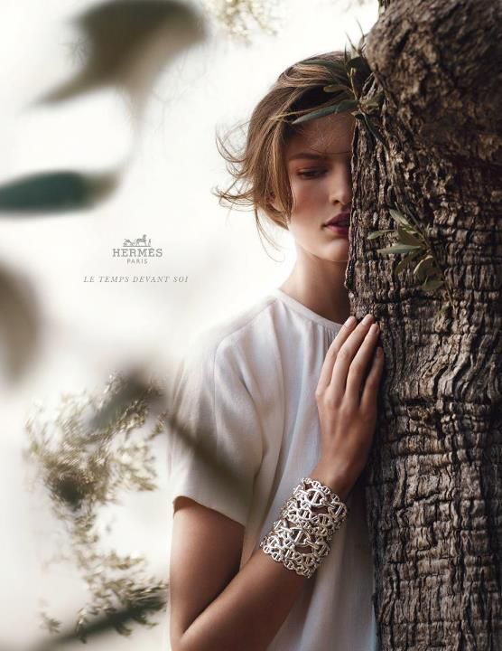 madame-deficit:    Bette Franke byNathaniel Goldberg.Hermes S/S 2012 Ad Campaign.