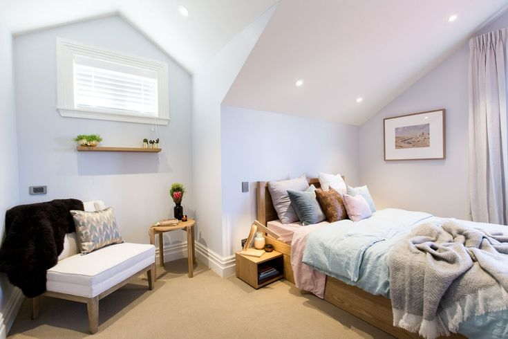 Cat & Jeremy's Master Bedroom & Ensuite - The Block NZ 2015 - Visit http://curate.co.nz/featured/eye-spy-on-the-block-15 for links to the products as seen on The Block