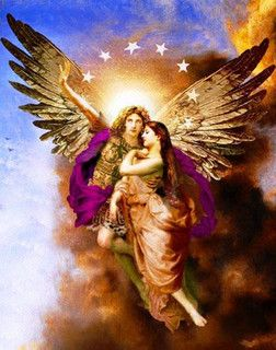 Angel carrying people