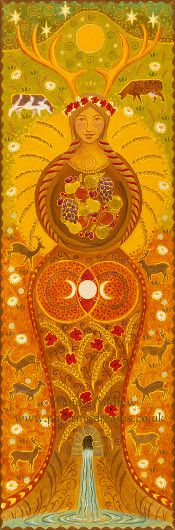 Contemporary art - Harvest Goddess by Wendy Andrew