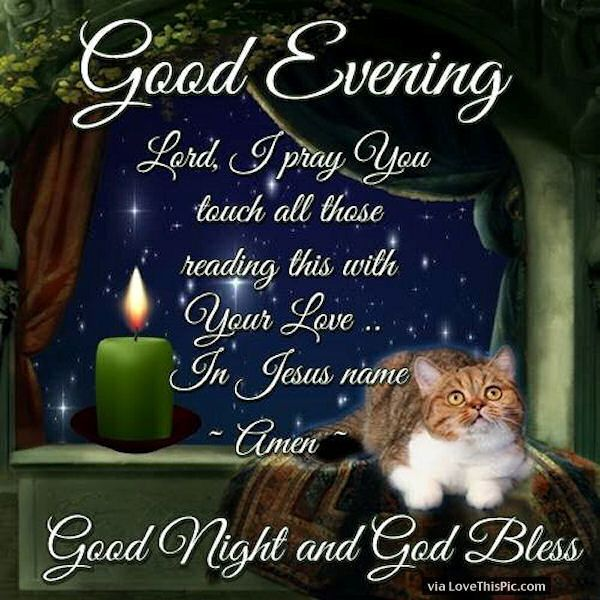 good night with god   Good Evening Good Night God Bless Pictures, Photos, and Images for ...