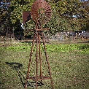Huge Rustic Garden Windmill