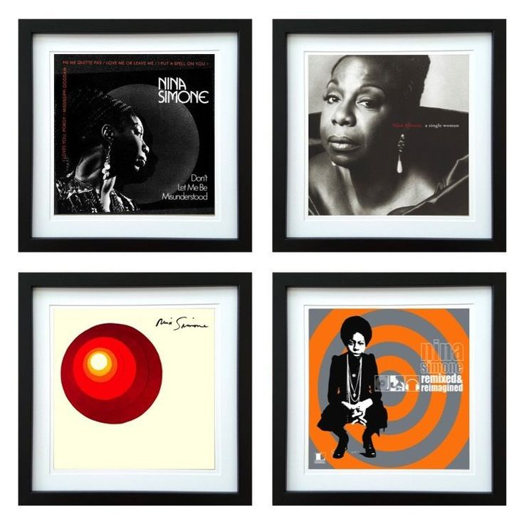 Nina Simone | Framed Album Art Set of 4 Images | ArtRockStore
