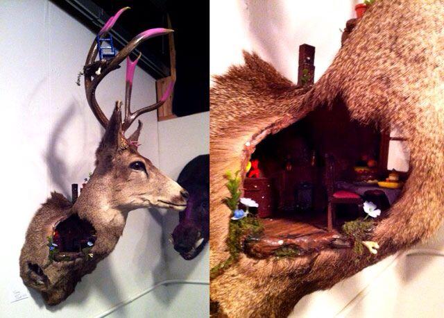 Creative Taxidermy Deer Mount Love This Oddities