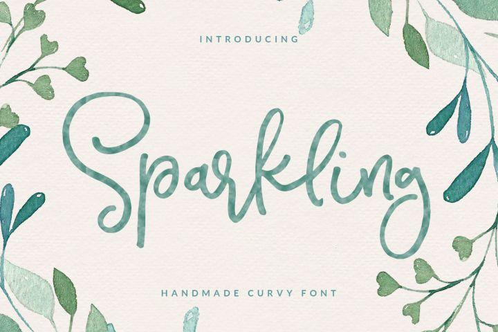 Sparkling Script Font #ad.