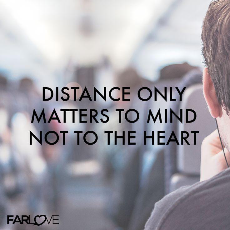 Distance only matters to mind, not to the heart. #Fernbeziehung #Liebe http://www.farlove.de/