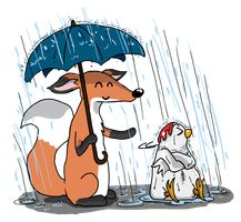 Marvin and Wilbur - rainy day by aliruchi
