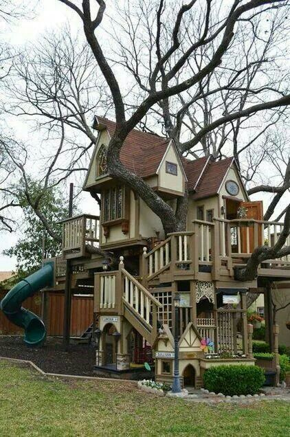 Wow! My dream tree house! Chris build this for me please!