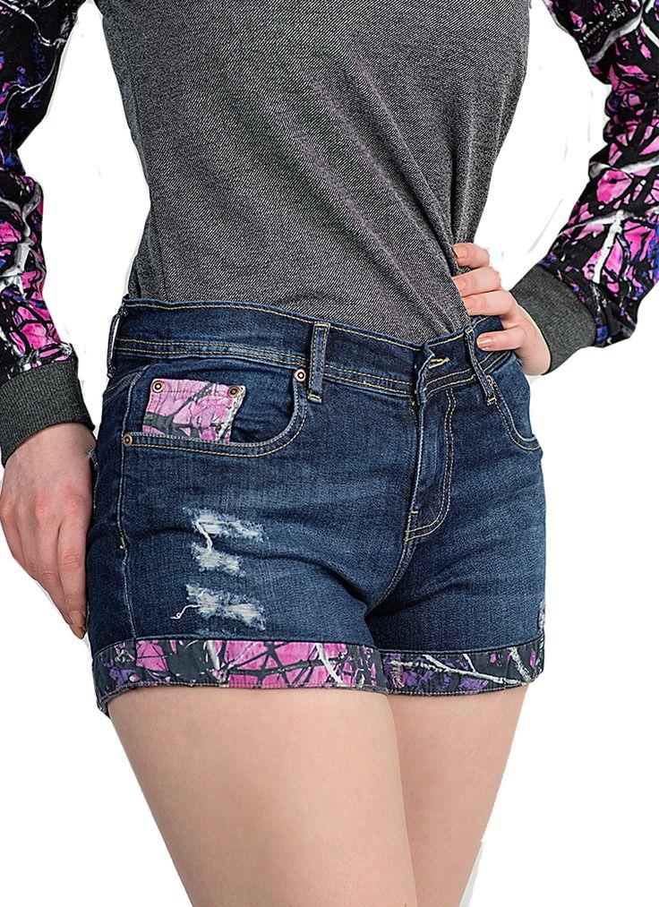 Ein schlammiges Mädchen Camo Jean Shorts   – outfits