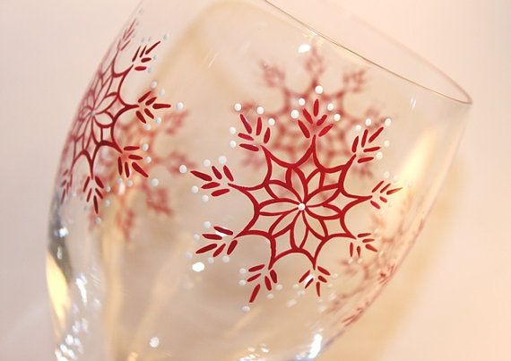 Snowflakes Wine Glass - Envelop yourself in the spirit of the winter season with this glittering, festive glass. I now offer price variations on this design based on the number of images selected, so you can build budget-friendly gifts for everyone on your list. When you select the number of snowflakes from the drop-down box, the default will be to include the larger snowflake on the base and place any remaining snowflakes around the bowl. If you have another preference, please specify. The…