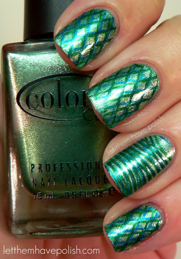 Let them have Polish!: Metallic green and teal