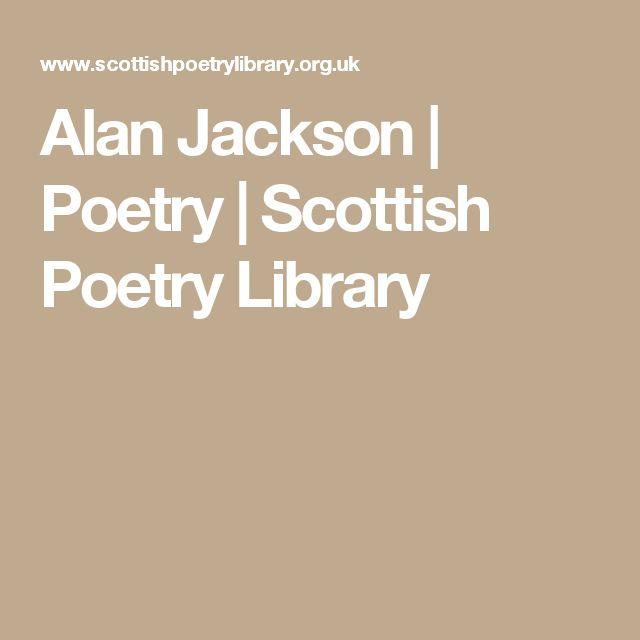 Alan Jackson | Poetry | Scottish Poetry Library