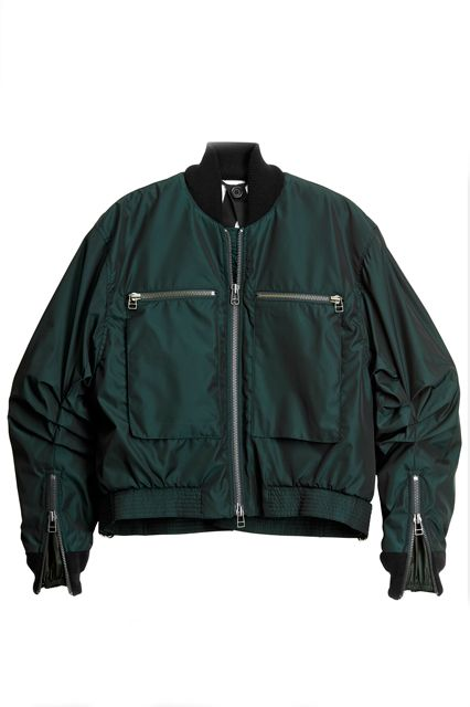 This bomber from H&M's new Studio Collection looks just as cool topped over a formal dress as it does jeans and a tee.H&M Studio Pilot Jacket, $129, available at H&M.  From: H&M Is Here To Make Your Day