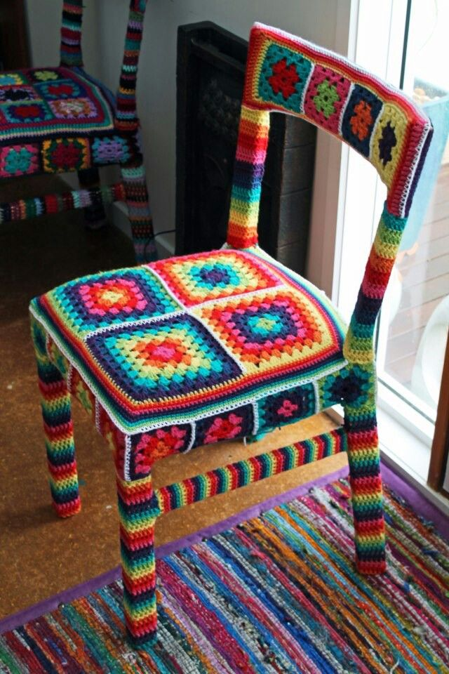 Crochet chair