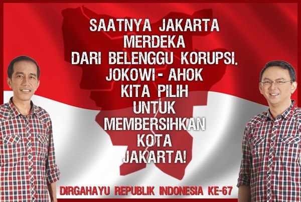 Indonesia merdeka, Jakarta pun merdeka!
