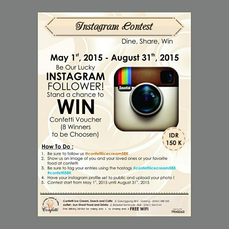 Instagram Contest..!  Be our Lucky Instagram Follower..