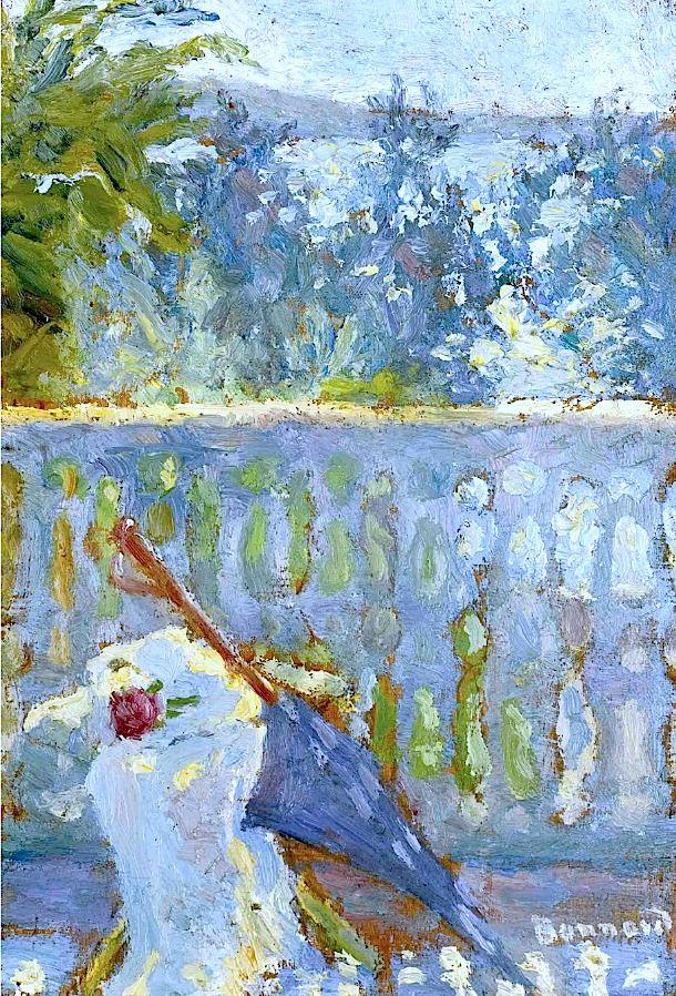 Pierre Bonnard (1867-1947) / Le balcon et l'ombrelle
