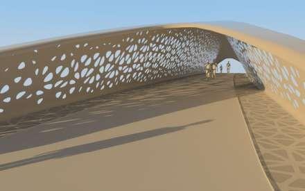 Ontwerp Parkbrug tussen Park Spoor Noord en het Eilandje