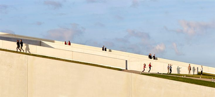 Moesgaard Museum by Henning Larsen. Photography is by Hufton + Crow