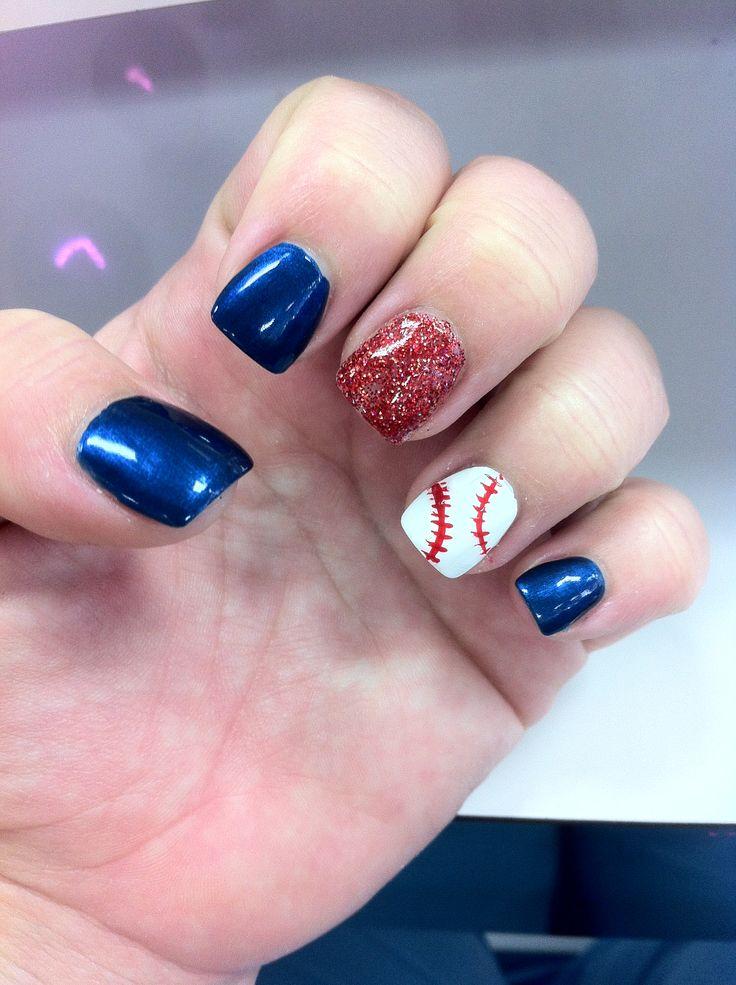 Baseball nails - 555 Best Sports Nails Images On Pinterest Baseball Nail Designs