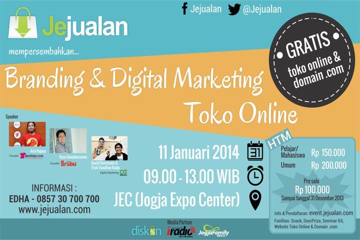 Seminar Branding dan Digital Marketing Toko Online