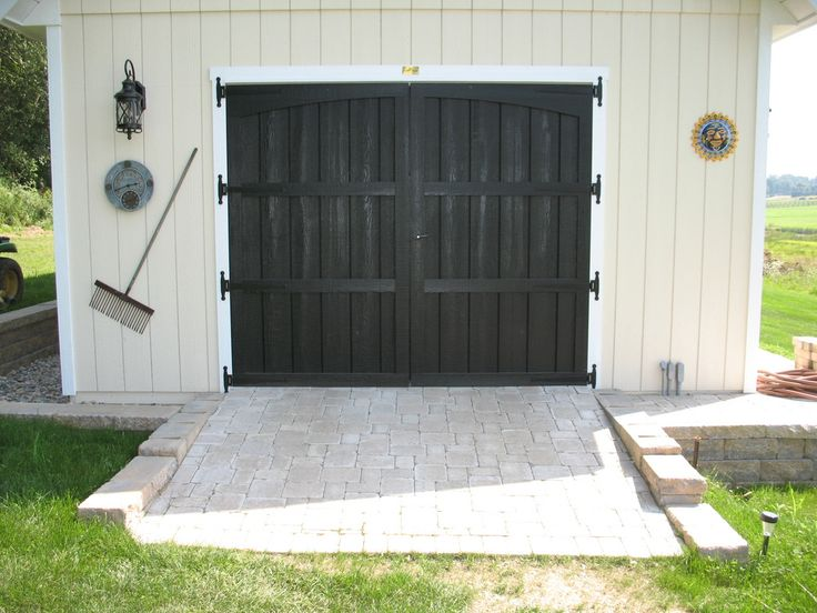 Pavers Used As Ramp To Shed For My Husband Pinterest