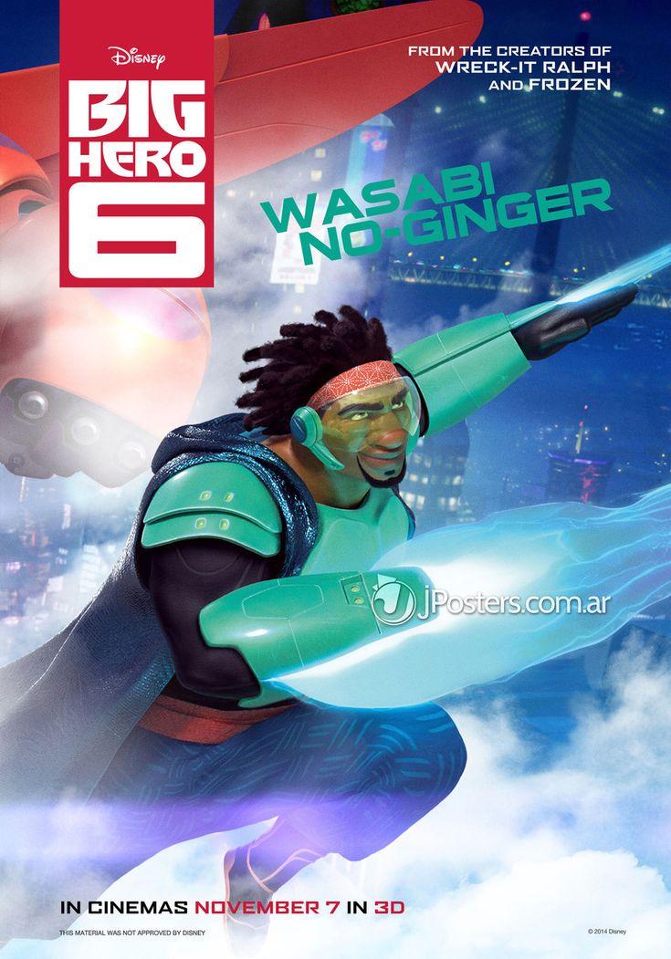Big Hero 6 Character Poster: (Wasabi No-Ginger). #wasabinoginger #bighero6