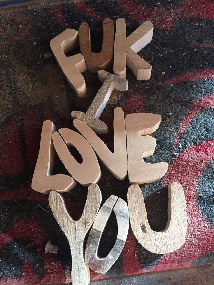 Just stuffing around with my bandsaw.. recycled pallets.. just letters lol..