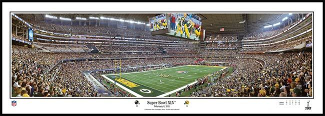 Green Bay Packers Wood Mounted Poster Print - Super Bowl 45 XLV - Corner