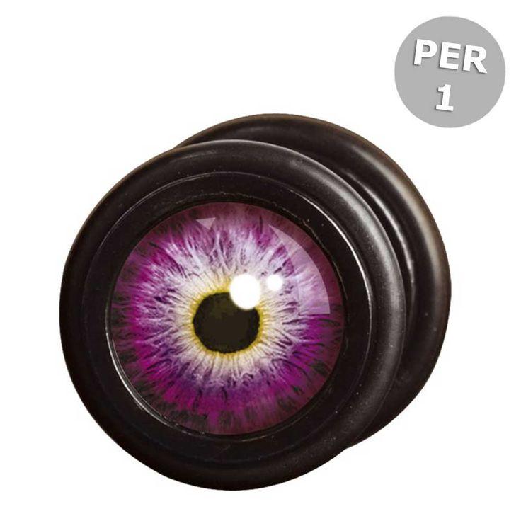 Wildcat Steel Blackline Purple Dragons Eye fake plug piercing met drak