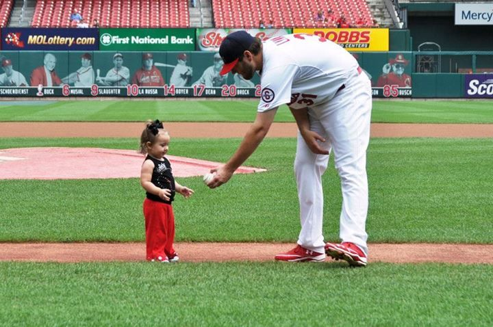 Lance Lynn with his daughter... 7-21-13
