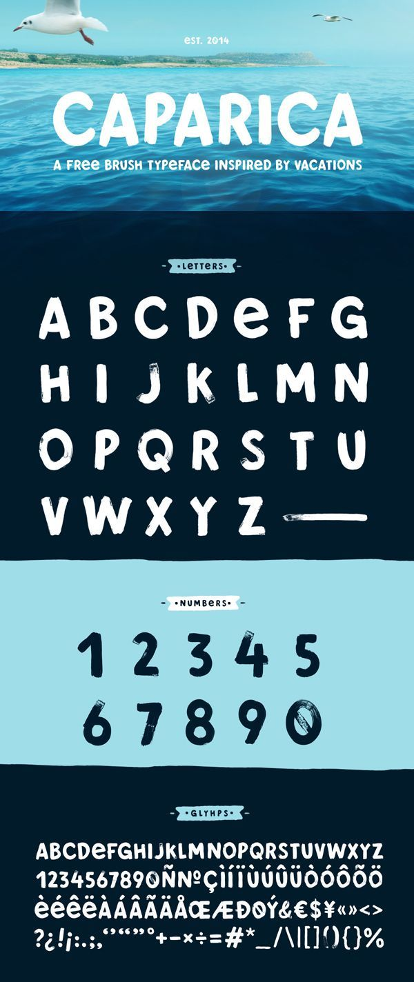 Free Brush Typeface 'Caparica' #freefonts #freebies #freetypeface