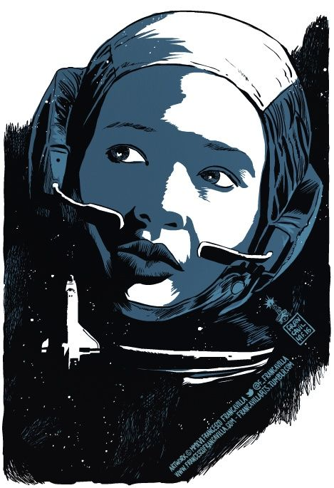First African-American female astronaut & First African-American woman in space.  Mae C. Jemison - Francesco Francavilla