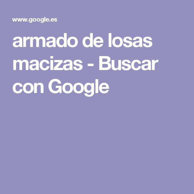 armado de losas macizas - Buscar con Google