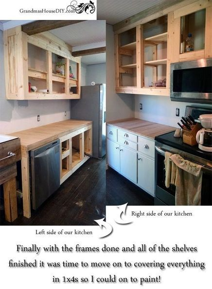 Kitchen makeover with DIY cabinets http://www.hometalk.com/l/Vx5