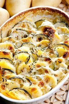 Hummm ! Gratin de pommes de terre aux courgettes : la recette du 16 mars sur  Un Jour, Une Recette