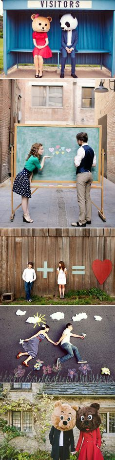 37 Fun and Creative Engagement Photos - Praise Wedding