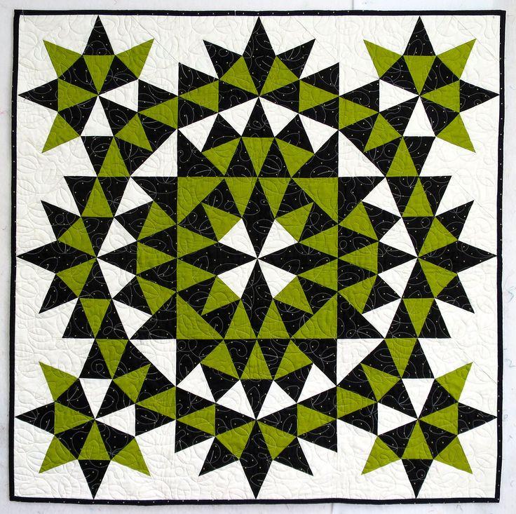 kaleidoscope quilts » First Light Designs grandmother's surprise, by Joyce Giesler
