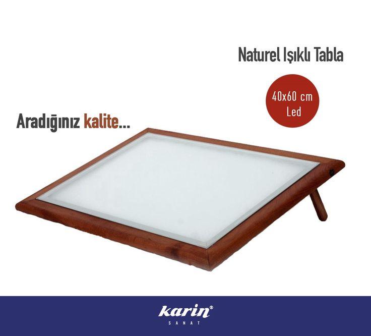 Karin Naturel Işıklı Tabla  %15 indirimle karinsanat.com/catalog/categories/view/157 #karinsanat #ledlitabla #ledlimasa #resim #painter