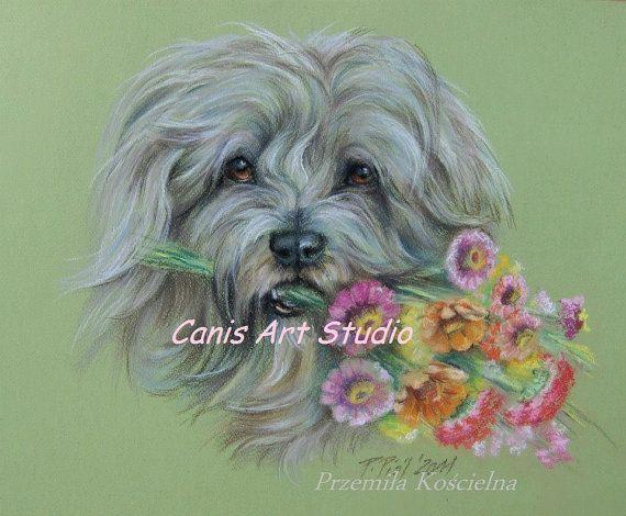 CUSTOM DOG PORTRAIT Original Pastel drawing from by CanisArtStudio #DogPortrait  #PastelDrawing