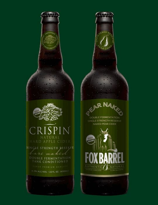 Crispin Cider Co. launches Crispin Bare Naked, Fox Barrel Pear Naked hard ciders | BeerPulse