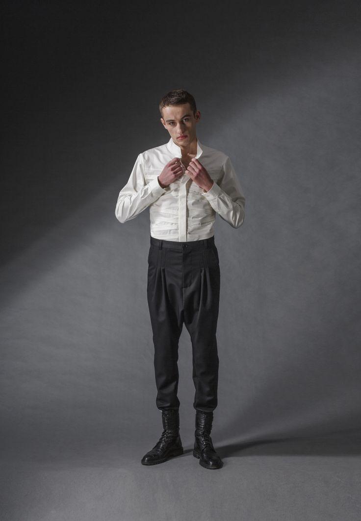 "white fighter shirt michal kozlowski   diploma collection ""debut""   2014"