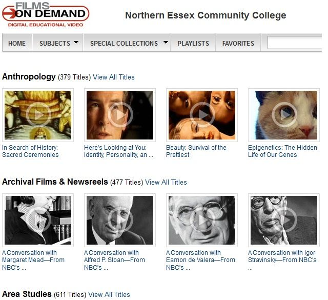 How to Use Films on Demand Libguide- Tips for faculty members using Films on Demand: browsing, searching, finding close-captioned films, creating links in Blackboard, viewing videos in the classroom, and creating a user account to save and share playlists and to set preferences.
